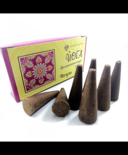 Аромоконусы ЙОГА. Шесть ароматов (Пачули)