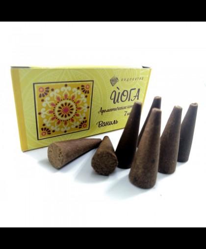 Аромоконусы ЙОГА. Шесть ароматов (Ваниль)