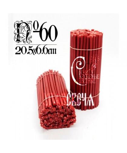 Красная восковая свеча №60 (1кг) 150шт
