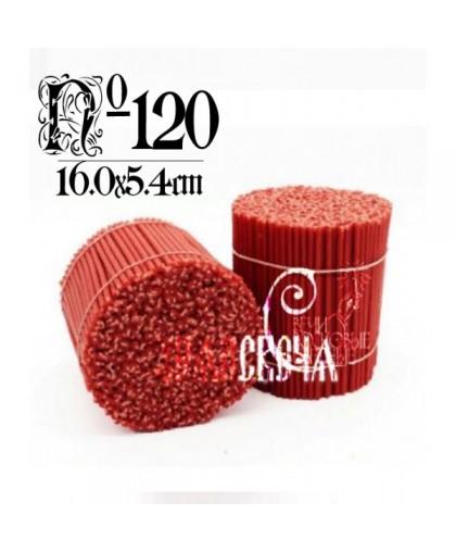 Красная восковая свеча №120 (2кг) 600шт