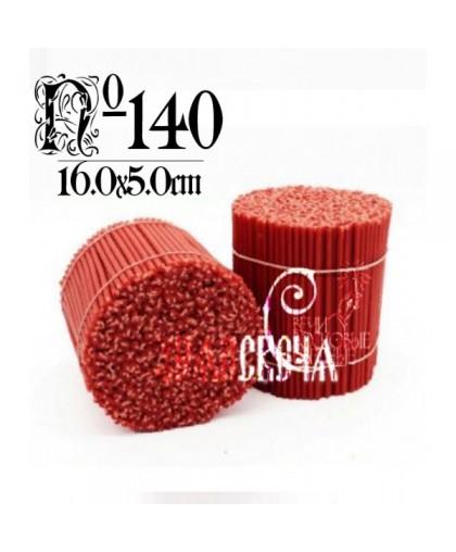 Красная восковая свеча №140 (1кг) 350шт