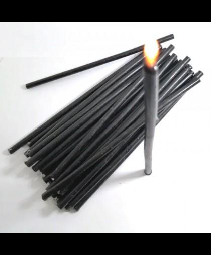 Свечи восковые черные (16см х 5.5мм) УПАКОВКА 1КГ