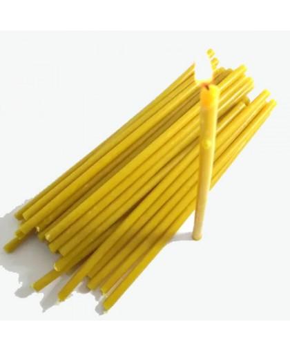 Свечи восковые желтые (16см высотой) УПАКОВКА 2КГ
