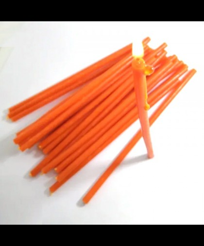 Свечи восковые оранжевые (16см высотой) УПАКОВКА 1КГ