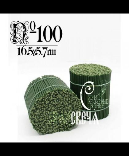 Зеленая восковая свеча №100 (2кг) 500шт