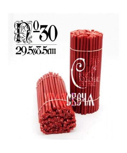 Красная восковая свеча №30 (2кг) 150шт