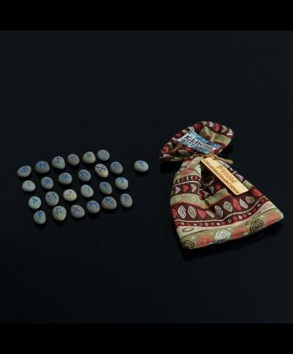 Набор скандинавских рун из камня, 25 штук